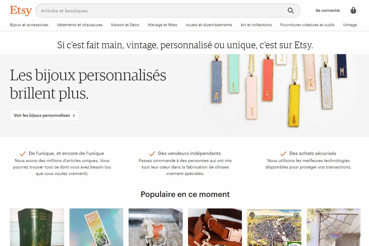 marketing d'affiliation sur Etsy
