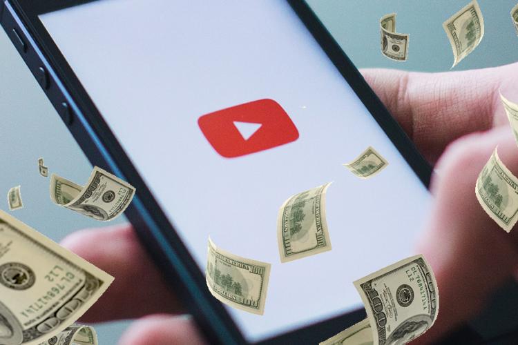 argent avec YouTube