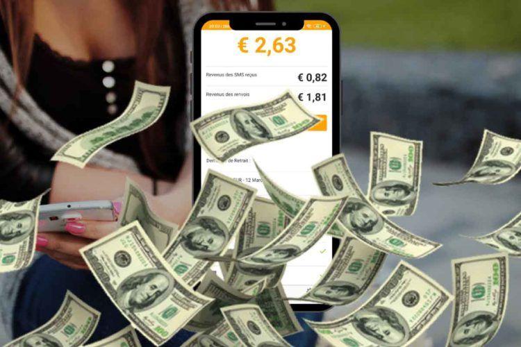 gagner de l'argent en envoyant des SMS